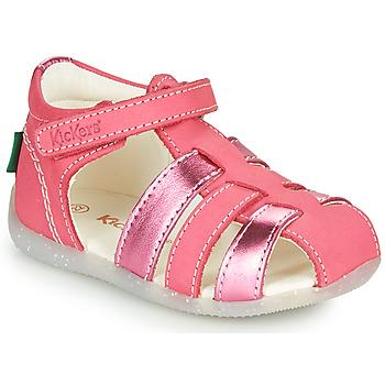 Chaussures Fille Sandales et Nu-pieds Kickers BIGFLO-2 Rose