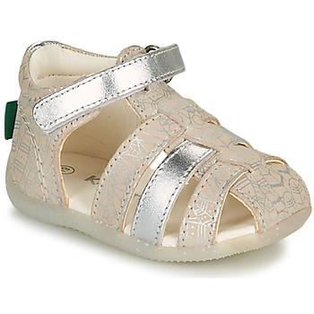 Chaussures Fille Sandales et Nu-pieds Kickers BIGFLO-2 Argenté
