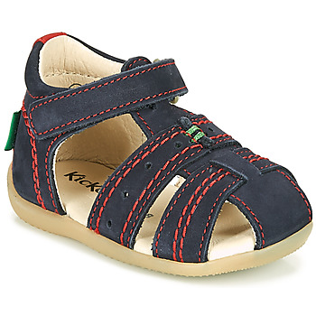 Chaussures Enfant Sandales et Nu-pieds Kickers BIGBAZAR-2 Beige / Jaune / Marine