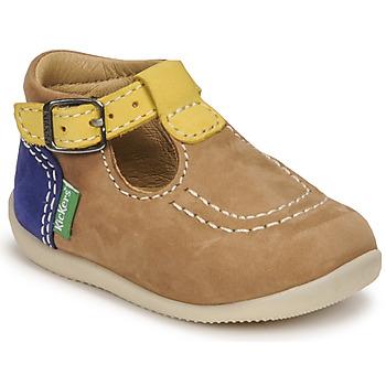 Chaussures Garçon Sandales et Nu-pieds Kickers BONBEK-2 Beige / Jaune / Marine