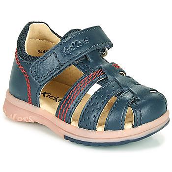 Chaussures Garçon Sandales et Nu-pieds Kickers PLATIBACK Marine