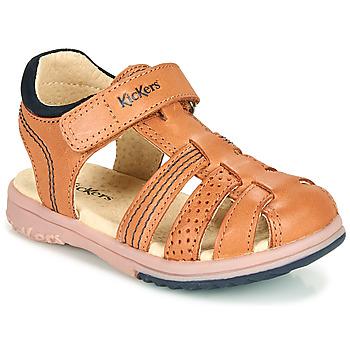 Chaussures Garçon Sandales et Nu-pieds Kickers PLATINIUM Camel
