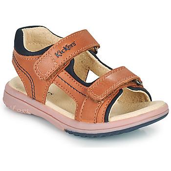 Chaussures Garçon Sandales et Nu-pieds Kickers PLATINO Camel