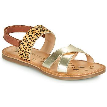 Chaussures Fille Sandales et Nu-pieds Kickers DYACROSS Doré