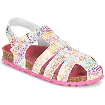 Chaussures Fille Sandales et Nu-pieds Kickers SUMMERTAN Blanc
