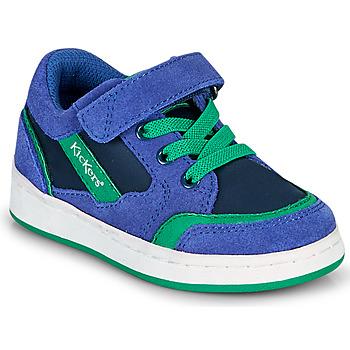 Chaussures Garçon Baskets basses Kickers BISCKUIT Bleu