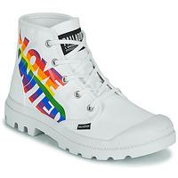Chaussures Boots Palladium PAMPA HI PRIDE Blanc / Multicolor