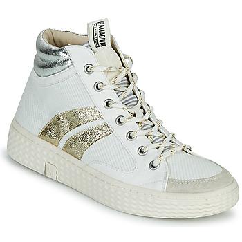 Chaussures Femme Baskets montantes Palladium Manufacture TEMPO 03 TXT Blanc