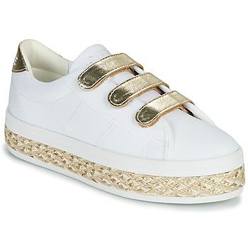 Chaussures Femme Baskets basses No Name MALIBU STRAPS Blanc / Doré
