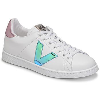 Chaussures Femme Baskets basses Victoria TENIS VEGANA VINI Blanc / Bleu / Rose