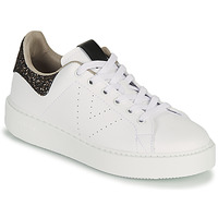 Chaussures Femme Baskets basses Victoria UTOPIA GLITTER Blanc / Marron