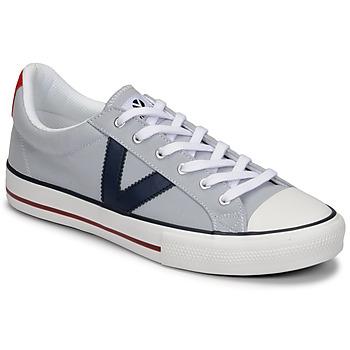 Chaussures Homme Baskets basses Victoria TRIBU LONA CONTRASTE Gris