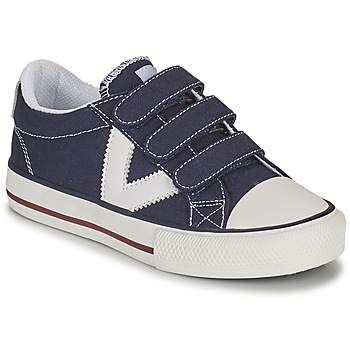 Chaussures Garçon Baskets basses Victoria TRIBU TIRAS LONA Bleu
