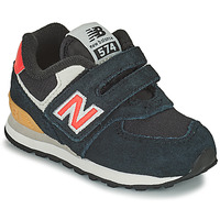 Chaussures Garçon Baskets basses New Balance 574 Noir / Orange