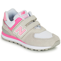 Chaussures Fille Baskets basses New Balance 574 Gris / Rose