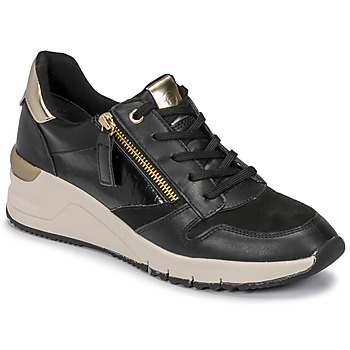 Chaussures Femme Baskets basses Tamaris REA Noir / Doré