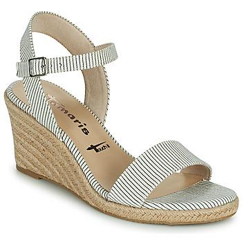 Chaussures Femme Sandales et Nu-pieds Tamaris LIVIAN Marine / Blanc