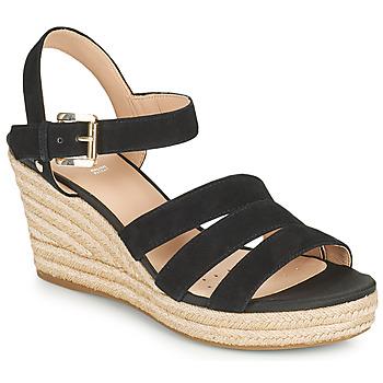 Chaussures Femme Sandales et Nu-pieds Geox D SOLEIL C Noir