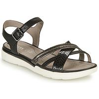 Chaussures Femme Sandales et Nu-pieds Geox D SANDAL HIVER A Noir / Argenté