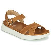Chaussures Femme Sandales et Nu-pieds Geox D XAND 2S B Cognac