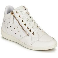 Chaussures Femme Baskets montantes Geox D MYRIA G Blanc