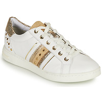 Chaussures Femme Baskets basses Geox D JAYSEN A Blanc / Doré