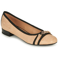 Chaussures Femme Ballerines / babies Geox D WISTREY D Beige / Noir