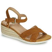Chaussures Femme Sandales et Nu-pieds Geox ISCHIA CORDA Camel