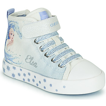 Chaussures Fille Baskets montantes Geox JR CIAK GIRL Blanc / Bleu