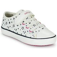 Chaussures Fille Baskets basses Geox GISLI GIRL Blanc
