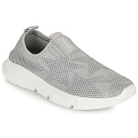 Chaussures Fille Slip ons Geox ARIL GIRL Gris