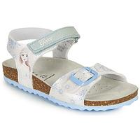 Chaussures Fille Sandales et Nu-pieds Geox ADRIEL GIRL Blanc / Bleu
