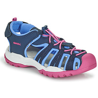 Chaussures Fille Sandales sport Geox BOREALIS GIRL Bleu / Rose