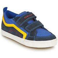 Chaussures Garçon Baskets basses Geox ALONISSO BOY Marine / Jaune