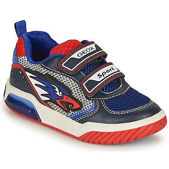 Chaussures Garçon Baskets basses Geox J INEK BOY B Bleu / Rouge