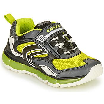 Chaussures Garçon Baskets basses Geox J ANDROID BOY B Gris / Lime