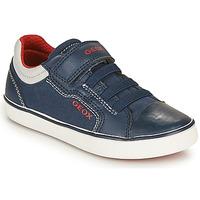Chaussures Garçon Baskets basses Geox J GISLI BOY A Marine / Rouge