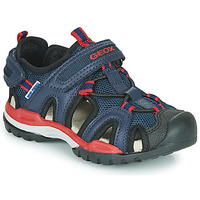 Chaussures Garçon Sandales sport Geox J BOREALIS BOY A Marine / Rouge