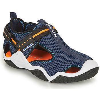 Chaussures Garçon Sandales sport Geox JR WADER A Marine / Orange