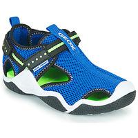 Chaussures Garçon Sandales sport Geox JR WADER Bleu  / Vert