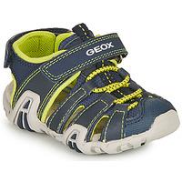 Chaussures Garçon Sandales sport Geox B SANDAL KRAZE A Marine / Lime