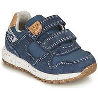 Chaussures Garçon Baskets basses Geox B ALBEN BOY B Bleu / Marron