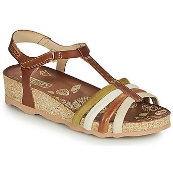 Chaussures Femme Sandales et Nu-pieds Pikolinos MAHON W9E Marron / Blanc