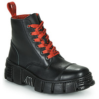 Chaussures Boots New Rock M-WALL005-C19 Noir / Rouge