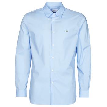 Vêtements Homme Chemises manches longues Lacoste PITTA Bleu