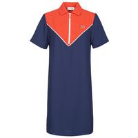 Vêtements Femme Robes courtes Lacoste FRITTI Rouge / Bleu