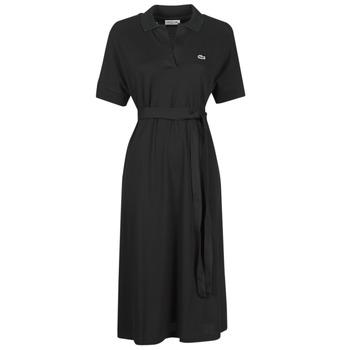 Vêtements Femme Robes longues Lacoste KONNI Noir