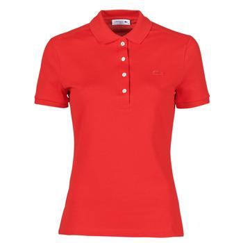 Vêtements Femme Polos manches courtes Lacoste POLO SLIM FIT Rouge