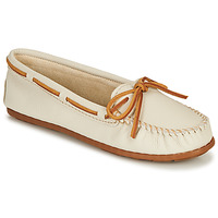 Chaussures Femme Mocassins Minnetonka BOAT MOC Blanc
