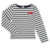 Vêtements Fille T-shirts manches longues Petit Bateau MAHALIA Multicolore